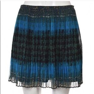Madewell Broadway & Broome Pleated Teal Skirt Sz 0
